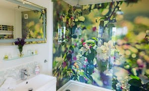 Shower in the apple blossom