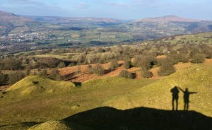 View from Llangattock escarpment