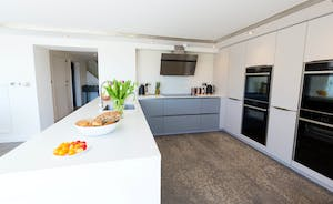 Shires - A swish contemporary kitchen with plenty of storage space