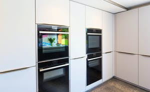 Shires - The kitchen has two big ovens AND 2 combi ovens!