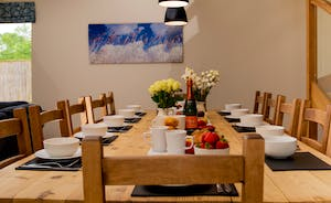 Foxcombe - A big dining table seats all - for those joyful celebrations - birthdays, anniversaries, engagements...