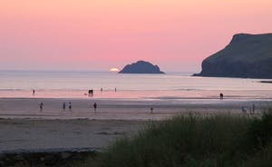 Sunset on Polzeath Beach