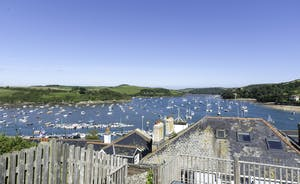 Views from the terraced garden area of the Salcombe Estuary