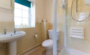 En suite shower Room at Railway Cottage