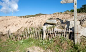 Coastal Footpath near the Sand Dunes, Rock