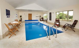 Crowcombe - A private indoor heated swimming pool, with room for socialising