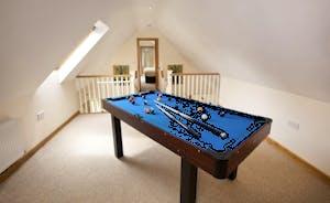 Crowcombe -  Room to shoot some pool on the mezzanine area