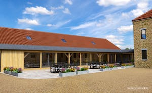 Croftview - This is how the property will look from the front; to the left is the spa hall, gardens are at the back and side of the house