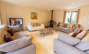 Thorncombe: Light and airy in the summer, snug and cosy in the winter