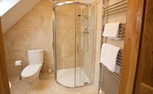 Crowcombe -  Right on trend - the en suite shower room for Bedroom 5