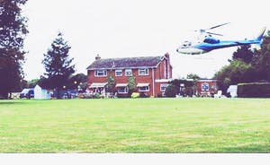 Yes we have even had helicopters flying in for pick  ups and taking off in the rear garden!