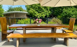 The Cottage Beyond: Huge parasols to shield you from the sun at The Giant's Table