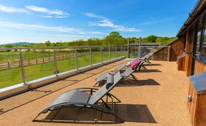 Shires - The first floor terrace is a real sun trap - and the views!