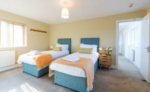 The Plough - Bedroom 1: Zip and link beds mean you can have a superking or twin beds