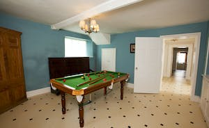Berry House - There's a spacious Games Room with a snooker table
