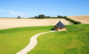 The Granary - The backdrop of open fields is the perfect setting for the fabulous barbecue hut