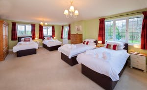 Ilbeare - Bedroom 1 is a super family room - beds can be arranged to your requirements