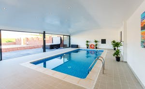 The Granary - A fabulous heated swimming pool, a lovely big hot tub - the ultimate in relaxation!