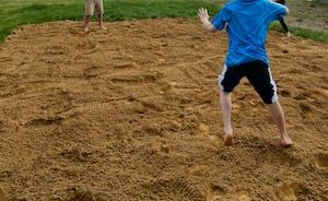 Voley Ball pitch/ Tug  of War.. Great fun