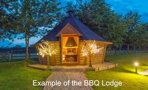Shires: In the garden at the back of the house there will be a Scandinavian style BBQ lodge