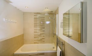 The modern downstairs ensuite