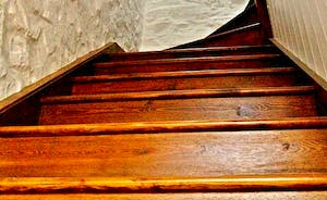 Stairs from the tack room to the Grooms Studio