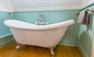 Frog Street: The Snug Room (Bedroom 5) has a lovely roll top bath, traditional style