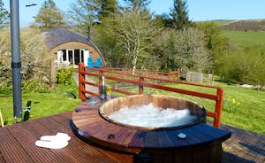 Hot tub and Orchard Cottage