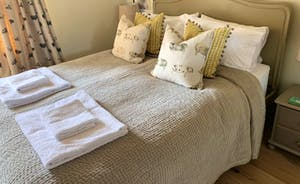 The double rooms at Chilcott's Barn are spacious and beautifully furnished with fabulous linens and textiles.
