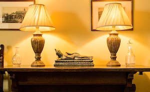 Antiques add to the feeling of faded gentility and being in your own home!