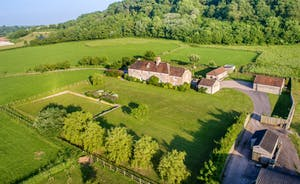 Park Farm from the air on a gorgeous June evening
