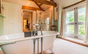 Vaulted Master Suite bathroom - former Cider Barn