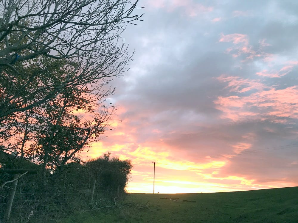 View of the sunrise 6th Nov 2019 from gate of field opposite Southclay, North Devon
