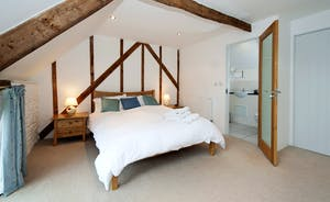 Whinchat Barns - Wagtail Corner: Bedroom 1 has a double bed - and lots of country charm