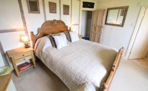 Carved oak bedroom with ensuite
