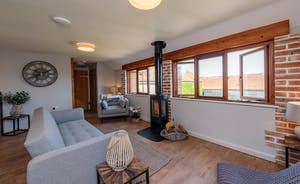 Whimbrels Barton - Bean Goose Barn: Upstairs is the light and airy living room