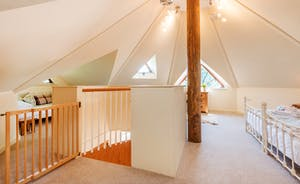 Upstairs at The Treehouse have a stunning octagonal roof