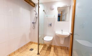 Pippinsands, Stonehayes Farm - The en suite wet room for Bedroom 6, in the integral annex