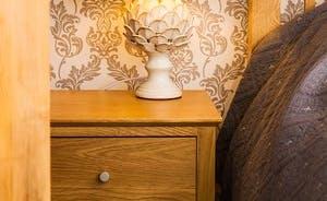 Artichoke lamps in Master bedroom