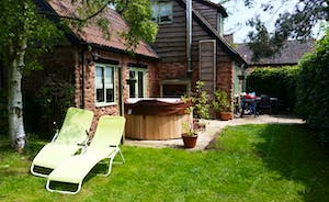 The Hot Tub In The Garden At Cornflower Cottage