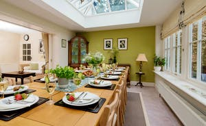 Garden Court - The dining area is in the light and airy orangery
