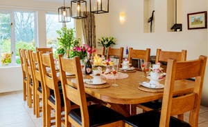 The Cottage Beyond: There's a long oak dining table that's just right for celebration feasts