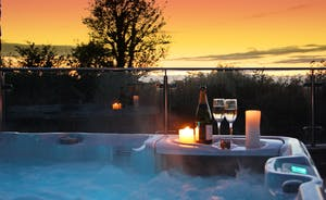 The Annex Hot Tub in sunset
