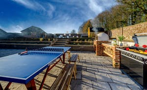 Hesdin Hall - When the weather ain't misbehavin' cook in the outdoor kitchen, play ping-pong