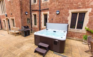 The Old Rectory - Just imagine relaxing in the hot tub beneath a dark velvet sky studded with glistening stars ...
