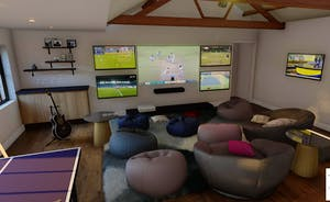 Pigertons - A totally immersive TV experience in the games room