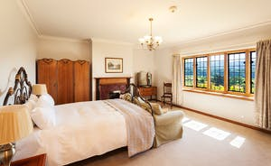 Bossington Hall - Embercombe Water Bedroom - Sip your morning tea whilst admiring the view