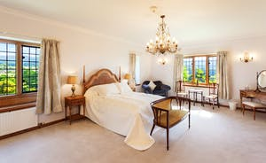 Bossington Hall - The master bedroom, Heddon River; a gorgeous, spacious room