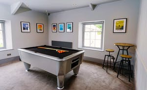 The cinema and pool room is private to the Corffe House