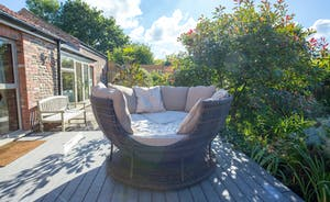 apple seating to relax in the garden